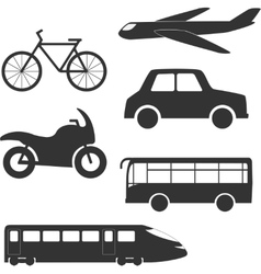 Different transport types vector