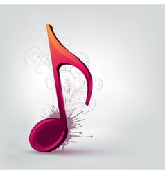music note clef vector image