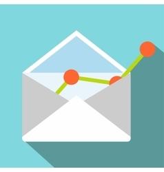 E-mail concept flat icon vector image