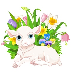 Easter sheep vector