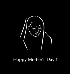 Happy mothers day card on black vector