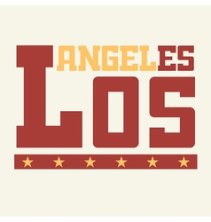 T shirt los angeles california vector