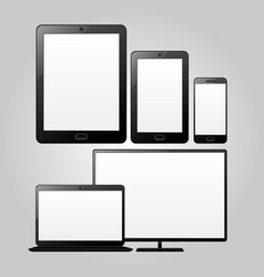 adaptive design devices vector image