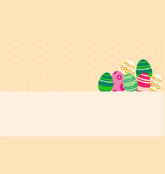 Background easter egg greeting card vector
