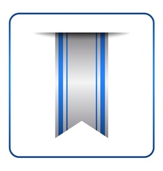 Blue bookmark banner symbol vector