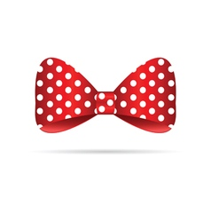bow dotted in red vector image vector image