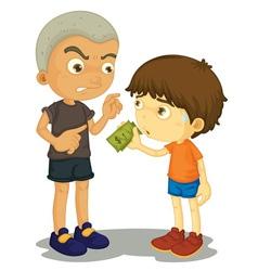 Bullying vector image