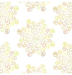 Colorful circular floral ornament on white vector image vector image