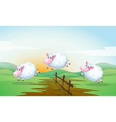 Counting sheeps vector image vector image