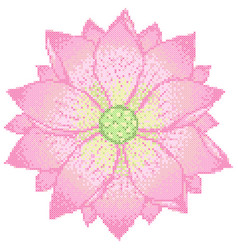 Cross stitch lotus vector