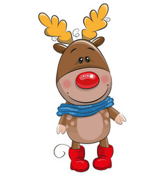 Cute christmas deer vector