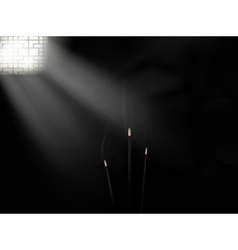 Dark room vector image vector image
