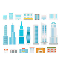 Different city elements collection modern city vector