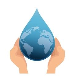 Earth planet drop water vector