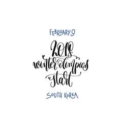 February 9 - winter olimpics start - south korea vector