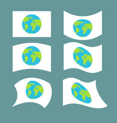 flag planet earth set official national symbol vector image