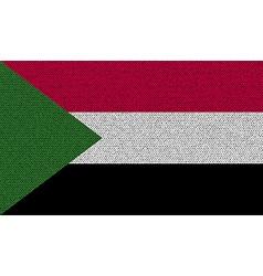 Flags sudan on denim texture vector