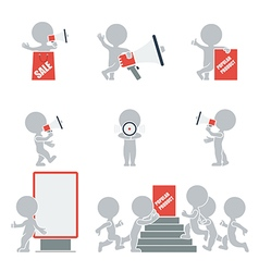 Flat people promotion vector image