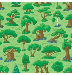 forest seamless vector image vector image