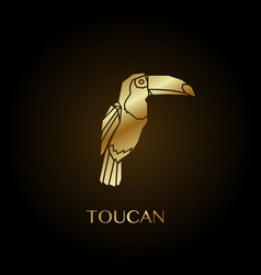 golden toucan vector image