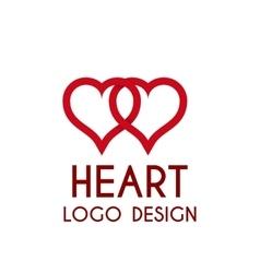 Heart logo 3d vector