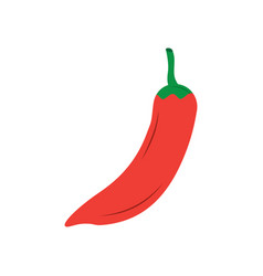 Hot mexican chili pepper fast food vector