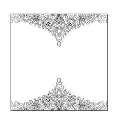 Indian Pattern Black White vector image