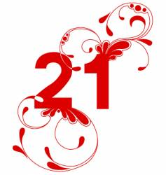 lucky numbers vector image vector image