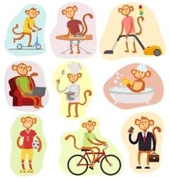 Monkey people vector image vector image