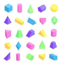 multicolored geometric shapes vector image