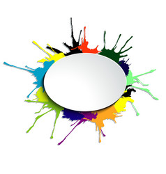 Oval on the blots vector