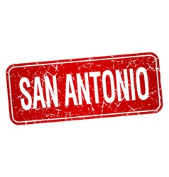 San antonio red stamp isolated on white background vector