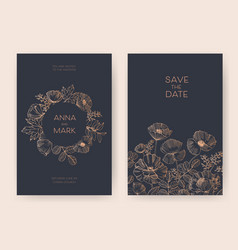 save the date card or wedding invitation templates vector image vector image