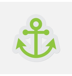 Simple green icon - anchor vector