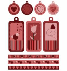 tags and borders vector image vector image