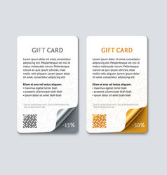 template color gift cards vector image