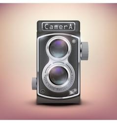 Vintage twin lens reflex camera vector