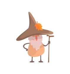 Mushroom desguised as beardy wise man part of vector
