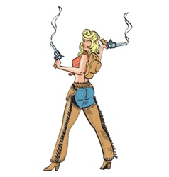 Sexy cowgirl vector image