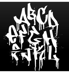 Graffiti font alphabet abc letters vector