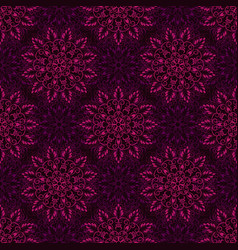 Seamless purple mandala pattern vector