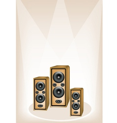 Three audio speaker background vector