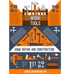 House repair work tools poster vector
