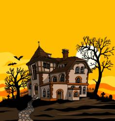 Spooky house vector