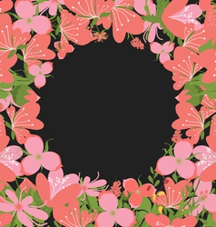 Vintage flowers negative copyspace background vector