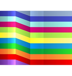 Colorful bending stripes background vector