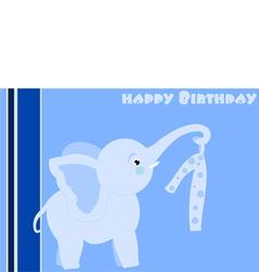 Birthday elephant vector
