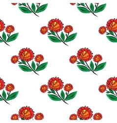 Red flowers natural seamless background vector