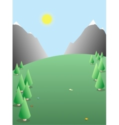 Seasonal landscape nature background vector