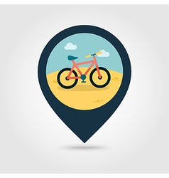 Bicycle pin map icon summer vacation vector